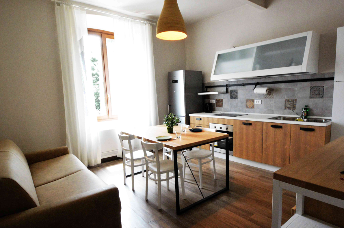Drei-Zimmer-Wohnung Wohnungen Agriturismo la Filanda am Gardasee Italien