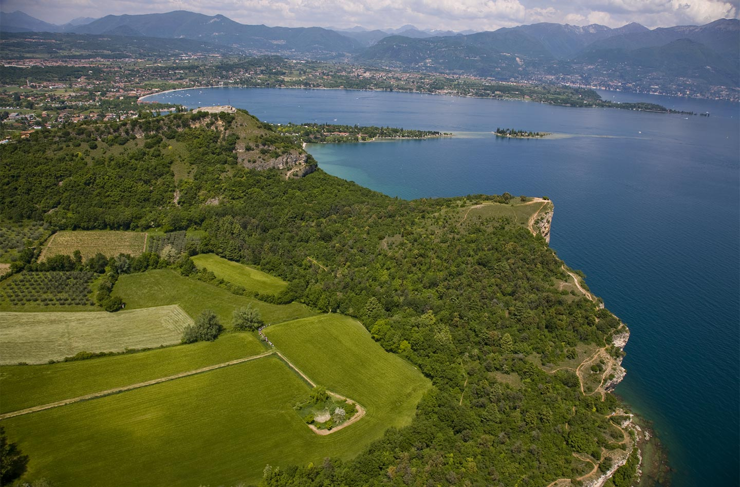 The natural park of la rocca The territory Agriturismo la Filanda on lake Garda Italy